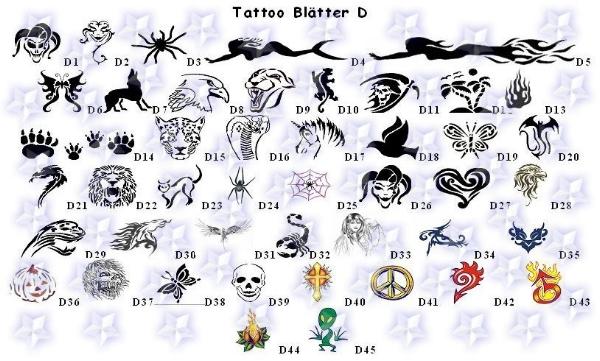 Tattoo Finger Vorlagen