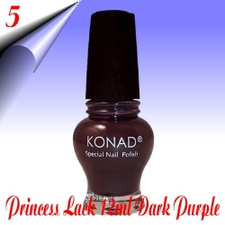 Original Konad Nail Stamping Princess Lack Dark Purple Nr.5