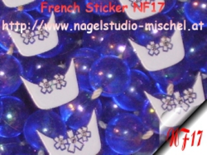 French Nagelsticker Neon Weiß NF17