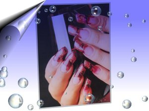 Nail Art Poster Flame ~ Nr. A3