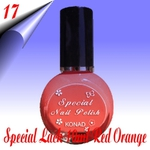 Original Konad Nail Stamping Nagellack Orange Rot 10ml Nr.17