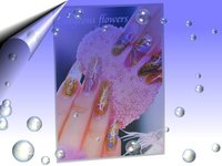 Nail Art Poster Flowers ~ Nr. A1