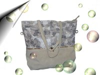 Italienische Damen Ledertasche Make Up