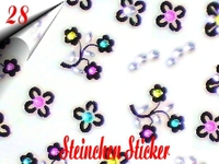 3D Strass Steinchen Sticker Nr.28
