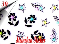 3D Strass Steinchen Sticker Nr.30